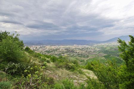 Stepanakert city in Nagorno - Karabakh, Caucasus mountains Editorial