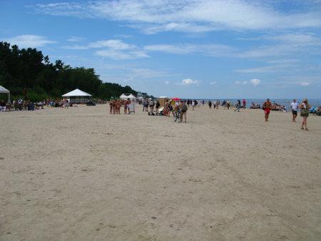 Jurmala / Latvia - 01 Aug 2010: Jurmala, Dzintari are villages on Baltic coast, Latvia