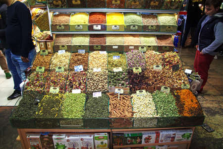 Istanbul / Turkey - 31 Oct 2014: Grand Bazaar in Instanbul, Turkey