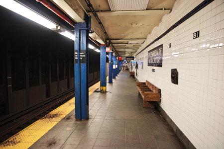 New York / United States - 01 Jul 2017: Metro in New York city of United States