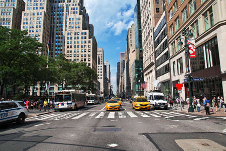 New York / United States - 30 Jun 2017: The street in New York city, United States