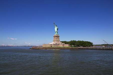 New York / United States - 02 Jul 2017: Statue of liberty in New York, USA
