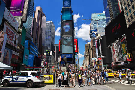 New York / United States - 02 Jul 2017: Times Square on Broadway in New York city, United States