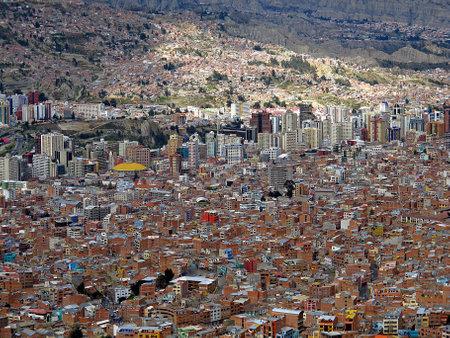 La Paz / Bolivia - 08 May 2011: Mirador Killi Killi, the view on the center of La Paz, Bolivia