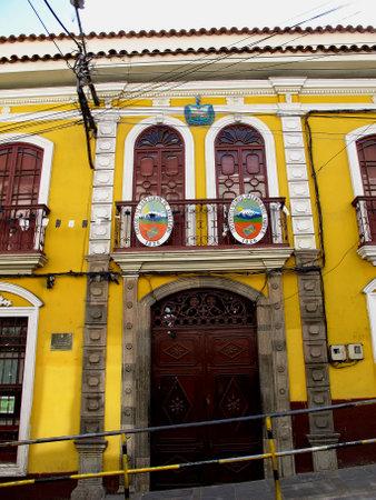 La Paz / Bolivia - 08 May 2011: The vintage palace in La Paz, Bolivia