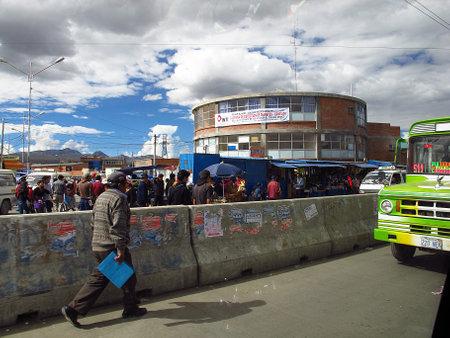 La Paz / Bolivia - 08 May 2011: The street in La Paz, Bolivia