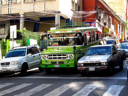 La Paz / Bolivia - 09 May 2011: Traffic on the street in La Paz, Bolivia