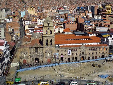 La Paz / Bolivia - 09 May 2011: Iglesia de San Francisco, the church in La Paz, Bolivia