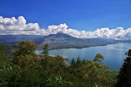 Bali / Indonesia - 06 Aug 2016: The mountain in Bali island, Indonesia 新闻类图片