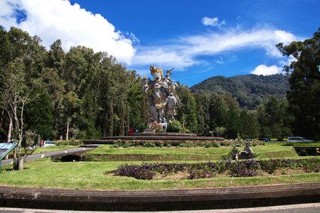 Bali / Indonesia - 05 Aug 2016: The garden on Bali island, Indonesia