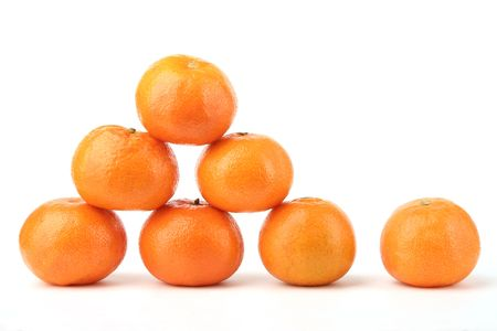 tangerines on a white background Stock Photo - 834176