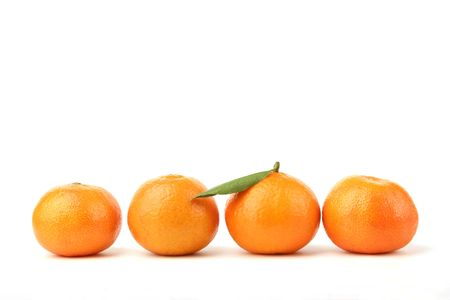 tangerines on a white background Stock Photo - 834175