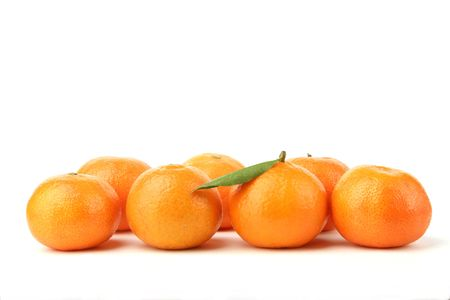 tangerines on a white background Stock Photo - 834174