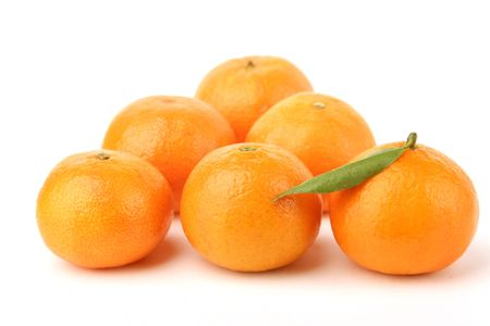 tangerines on a white background Stock Photo - 834173