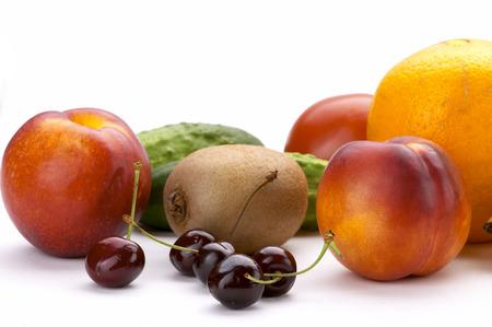 Rainbow of fruit photo