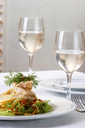 mesa para banquetes: Banquete mesa  Foto de archivo
