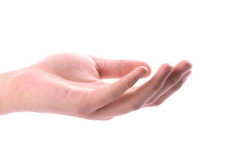 mano, aprire palma
