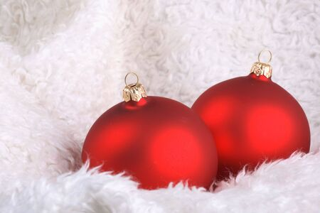 wintery: Wintery Christmas Decorations Stock Photo