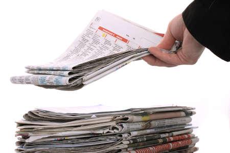 informait: Le secteur des journaux des nouvelles Banque d'images