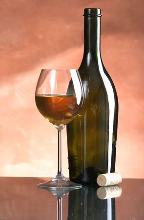 bocal: Still-life wine bottles and glass  Stock Photo