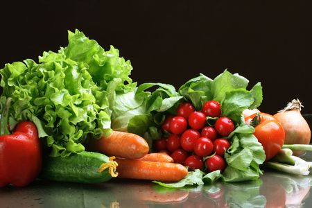 Fresh Vegetables, Fruits and other foodstuffs. Stock Photo - 2839229