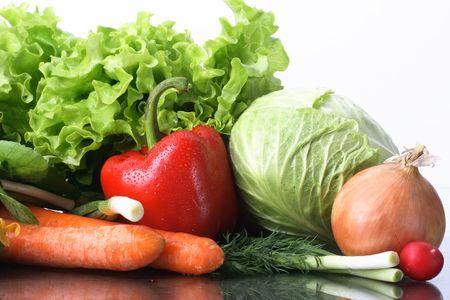 aliments: L�gumes frais, fruits et dautres produits alimentaires. Banque d'images