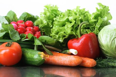 Fresh Vegetables, Fruits and other foodstuffs. Stock Photo - 2839230