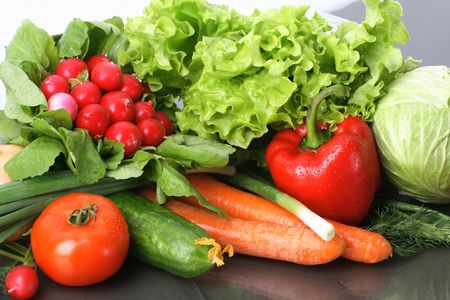 Fresh Vegetables, Fruits and other foodstuffs. Stock Photo - 2839233