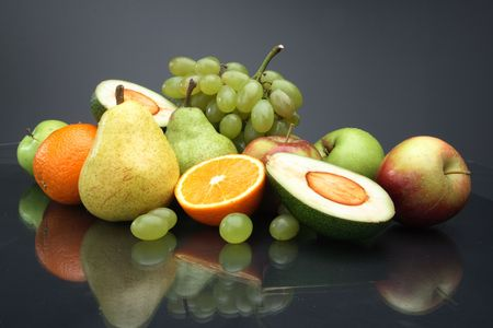 The various fruit useful to health, still-life Stock Photo - 2839216
