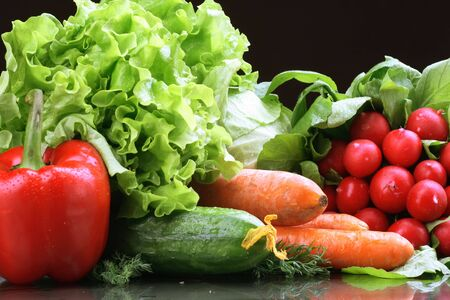 Fresh Vegetables, Fruits and other foodstuffs. Stock Photo - 2900534
