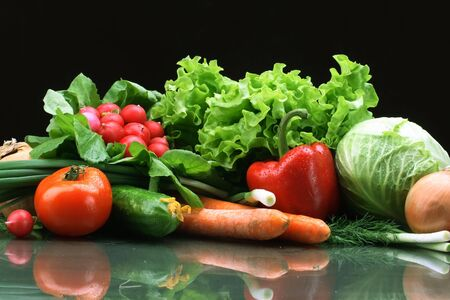 Fresh Vegetables, Fruits and other foodstuffs. Stock Photo - 2900554