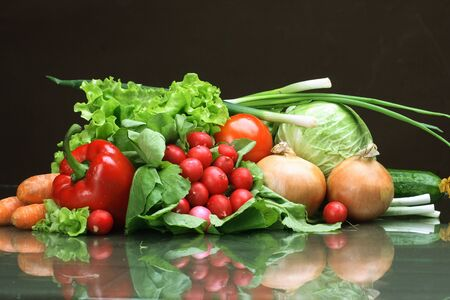Fresh Vegetables, Fruits and other foodstuffs. Stock Photo - 2900553