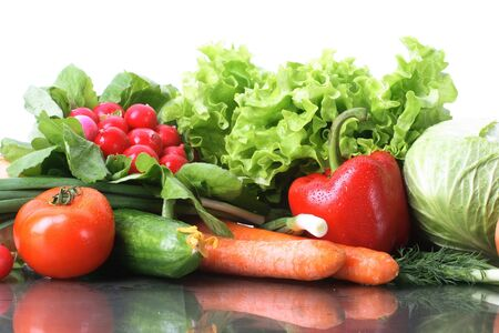 Fresh Vegetables, Fruits and other foodstuffs. Stock Photo - 2958070