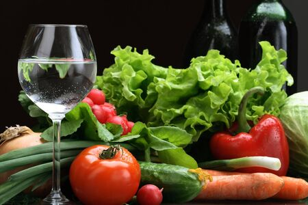 Fresh Vegetables, Fruits and other foodstuffs. Stock Photo - 3143466