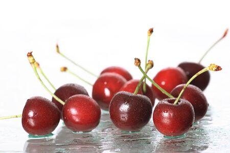 cherries on white background Stock Photo - 3199565