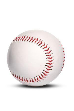 baseball ball, isolated on white photo