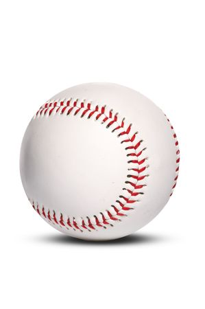 pelota beisbol: pelota de b�isbol, aislados en blanco  Foto de archivo