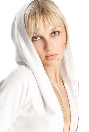 The girl on a white background Stock Photo - 3437331