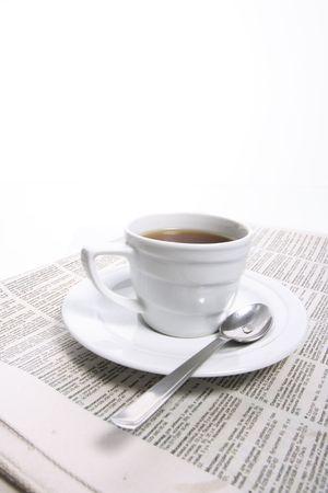coffee cup, newspape Stock Photo - 3471302