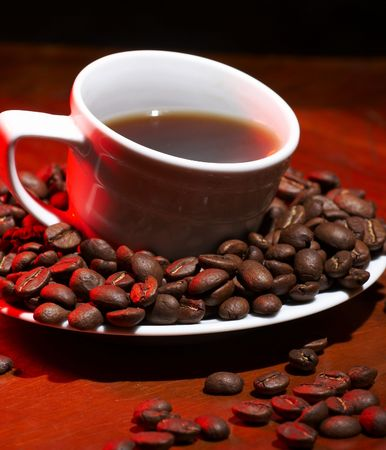 Red hot coffee photo