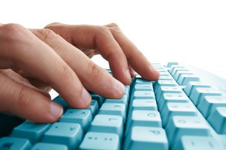 hands typing Stock Photo - 3871778