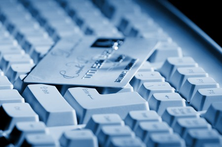 creditcard ready for payment on the keyboard photo