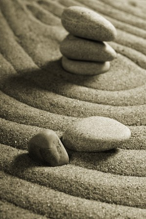 Garden of stones, zen-like, tranquil, spa images photo