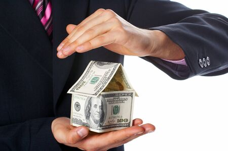 The house money in human hands Stock Photo - 4342263