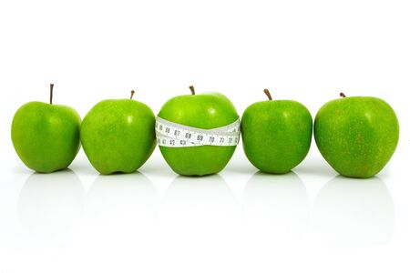 useful: Green apples measured  the meter, sports apples