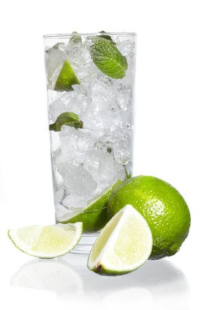 Mint, lime ice vodka photo