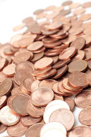 coins  on white background Stock Photo - 4663467