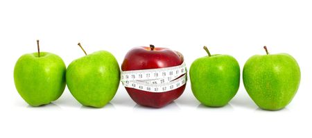 apples measured  the meter, sports apples Stock Photo - 5076863