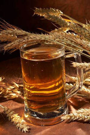 Glass of beer with grain Stock Photo - 5692122