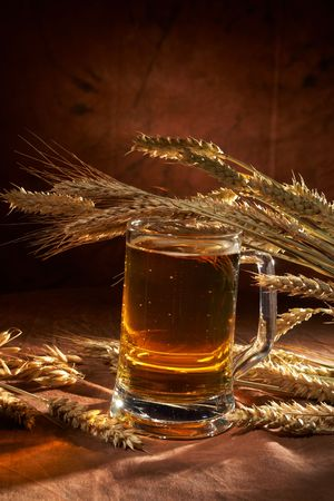 Glass of beer with grain Stock Photo - 5692161